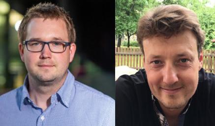 Vlevo Matěj Kopecký a vpravo Michal Hanzelka .