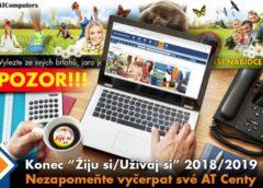 Letošní ročník kampaně Žiju si - Užívaj si 2018-2019 končí