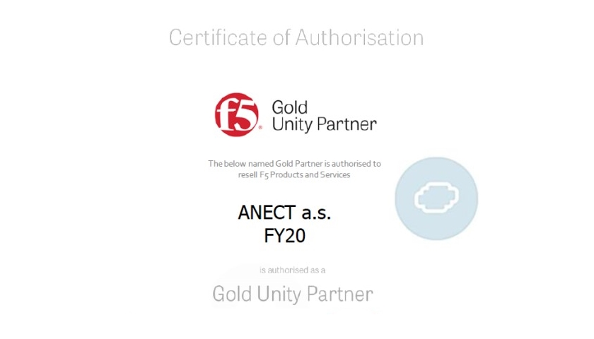 ANECT se stala GOLD partnerem společnosti F5